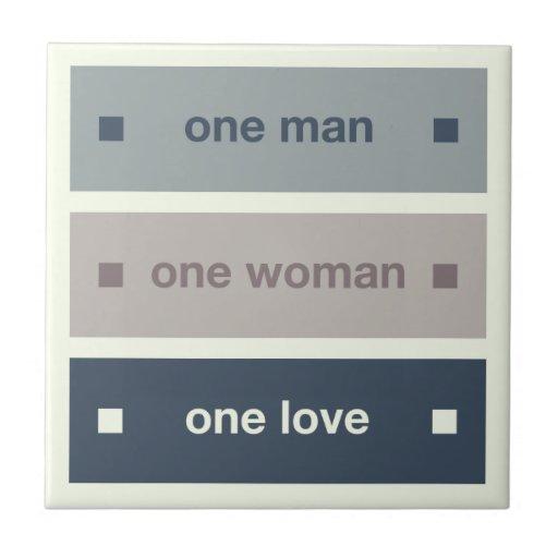 Um homem, uma mulher, um amor azulejos