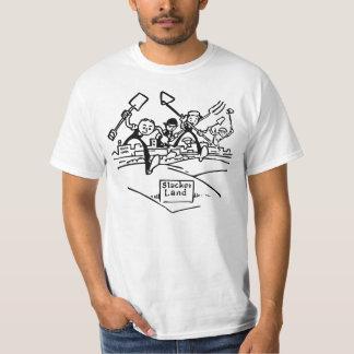 Um humor mais frouxo do dominio público da terra - tshirts