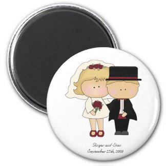 Um ímã pessoal do casamento ímã redondo 5.08cm