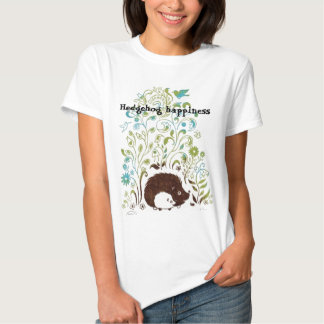 um impressão legal do ouriço, felicidade do ouriço t-shirts