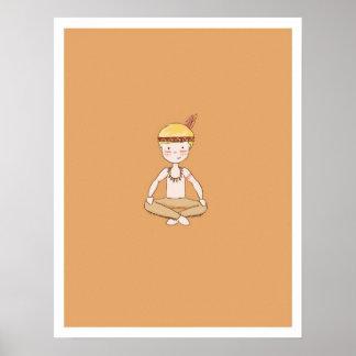 Um indiano pequeno poster