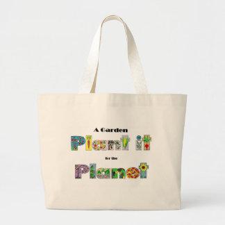Um jardim, planta-o para o planeta, slogan earthda bolsa