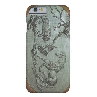 Um leão, um cavalo, 1780 um exemplo do iPhone 6 do Capa Barely There Para iPhone 6