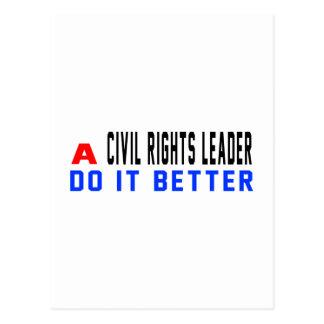 Um líder dos direitos civis melhora cartão postal