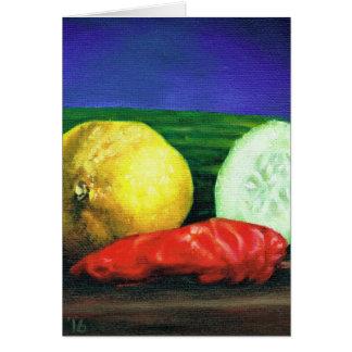 Um limão e um pepino cartão comemorativo