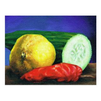 Um limão e um pepino cartão postal