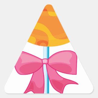 um lolly adesivo triangular