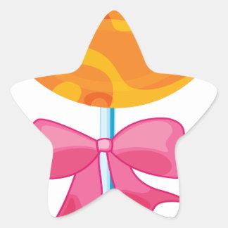 um lolly adesito estrela