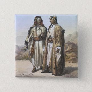 Um Mahazi e um beduíno de Soualeh, ilustração de Bóton Quadrado 5.08cm