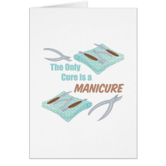 Um Manicure Cartão Comemorativo