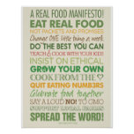 Um manifesto real da comida poster