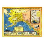 Um mapa amigável de Alaska Cartões Postais