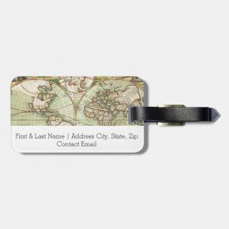Um mapp novo do mundo - atlas etiqueta de bagagem