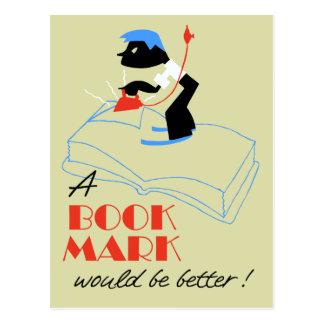 Um marcador seria estilo melhor retro cartão postal