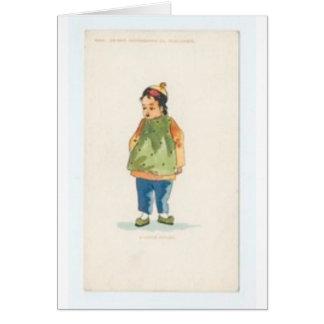 Um menino pequeno do chinês de Outkast Cartão
