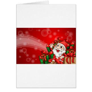 Um modelo sparkling do cartão de Natal com Cla do