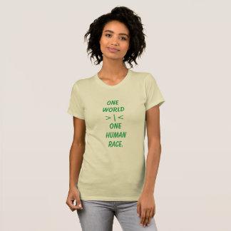 Um mundo, uma camisa das mulheres da raça humana