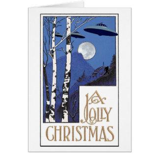 Um Natal alegre Cartão De Nota