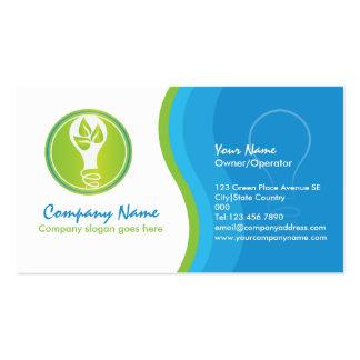 um negócio a favor do meio ambiente do eletricista cartão de visita