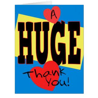 Um obrigado ENORME você extra grande 8 x cartão 10