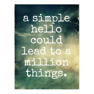 Um olá! simples - cartão inspirado