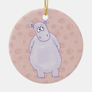 Um ornamento pequeno culpado do hipopótamo