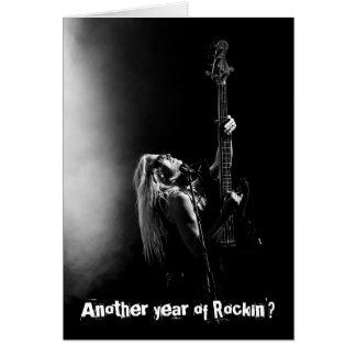 Um outro ano de cartão de aniversário da guitarra