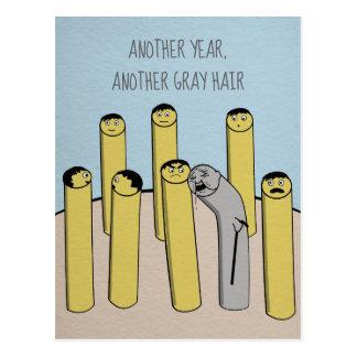 Um outro cartão velho engraçado do aniversário do