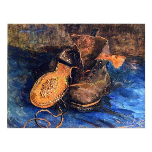 Um par de sapatos por Vincent van Gogh 1887 Cartao Postal