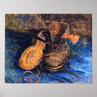 Um par de sapatos por Vincent van Gogh 1887 Poster