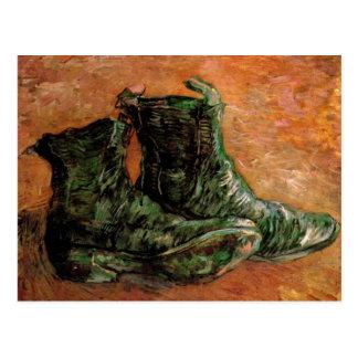 Um par de sapatos por Vincent van Gogh Cartoes Postais
