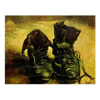 Um par de sapatos por Vincent van Gogh Cartões Postais