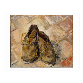 Um par de sapatos, Vincent van Gogh Cartao Postal