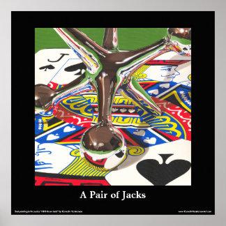 """Um par do poster das belas artes dos jaques, 24"""" x"""
