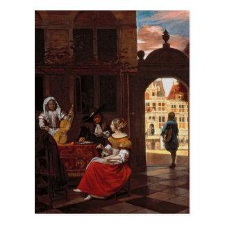 Um partido musical, 1677 cartao postal