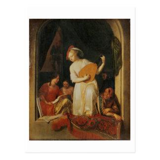 Um partido musical, 1681 cartão postal