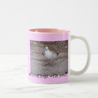 Um passarinho disse-me caneca de café em dois tons