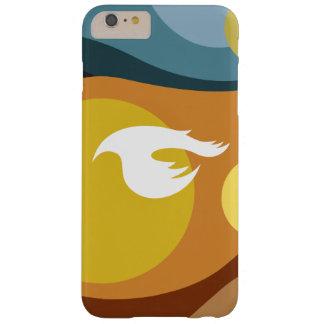 Um pássaro na capa de telefone do anoitecer