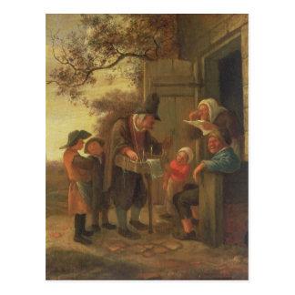 Um Pedlar que vende espetáculos Cartao Postal