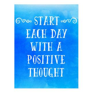 Um pensamento positivo cartão postal