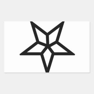 Um Pentagram invertido diferente Adesivos Retangulares