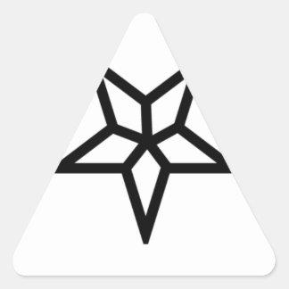 Um Pentagram invertido diferente Adesivo Em Forma De Triângulo