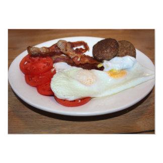Um pequeno almoço grande convite 12.7 x 17.78cm