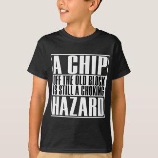 Um perigo de bloqueio, camisetas engraçadas para