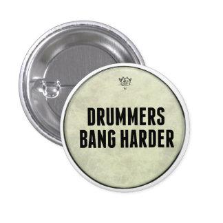 Um Pin mais duro do golpe engraçado dos bateristas Bóton Redondo 2.54cm