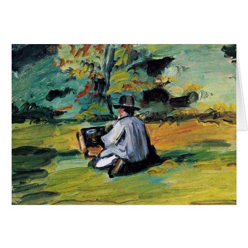 Um pintor no trabalho por Paul Cézanne (a melhor q Cartões