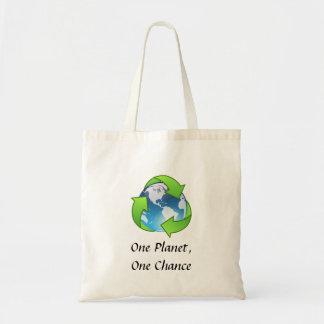 Um planeta, uma possibilidade sacola tote budget