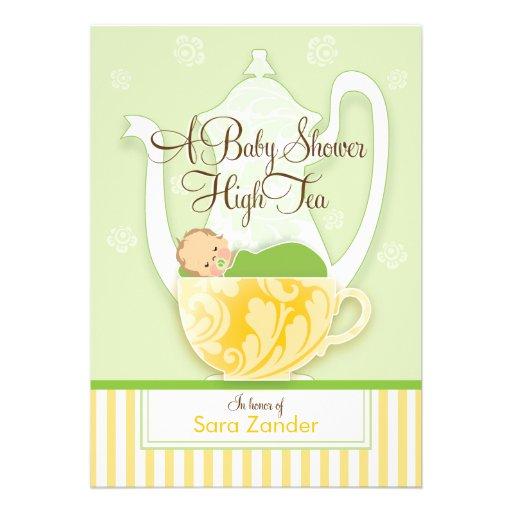 Um ponto morto do género do tea party | do chá de  convite personalizados