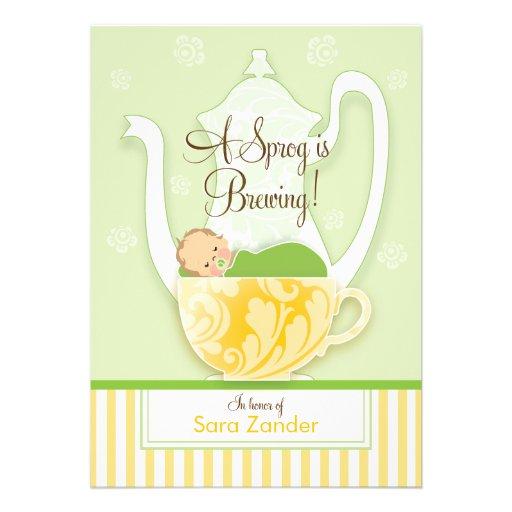 Um ponto morto do género do tea party | do chá de  convites personalizados