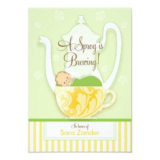 Um ponto morto do género do tea party | do chá de convite 12.7 x 17.78cm